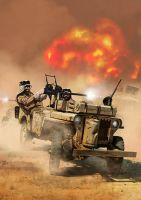 Willys MB Jeep Special Air Service by dugazm