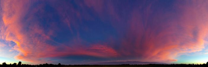 Red Sky Dusk Panoramic by LakeFX