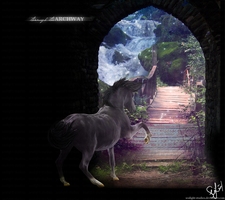 through the archway by SeaLight-Studios