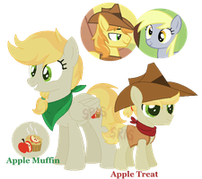 Apple Muffin and Apple Treat by SuperRosey16