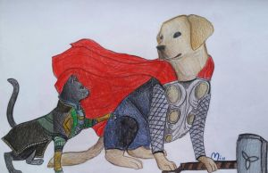 Lokitty and Labrathor by MayTheForceBeWithYou