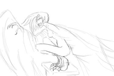 Harpy sketch by bookxworm89
