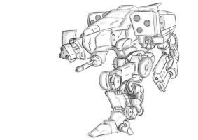 Werewolf the Mech by Keydan