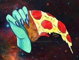 Space Pizza by ArlieOpal