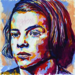 Sophie Scholl Portrait by Olilolly11