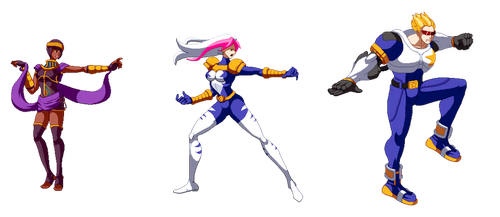 Blazblue styled MvC sprites by Countgate