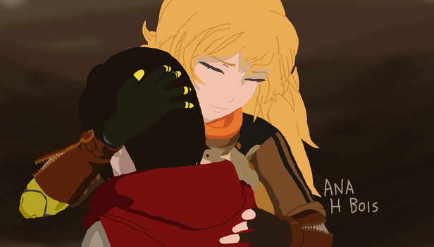 Screenshot Redraw - Ruby and Yang's hug by anahbois