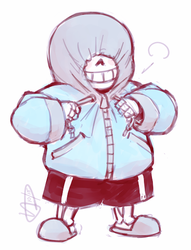 Sans isn't home right now by frostious