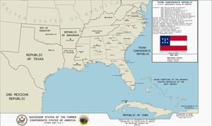 Map of the Third Confederate Republic (TL-191) by KitFisto1997