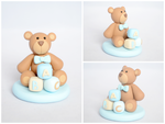 Baby ABC Bear in Pastel Blue by TheLinnypig
