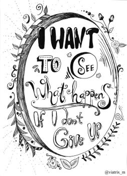 Don't give up - Handlettering by Viatrix-M