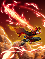 Flame assault by Rolly-Chan