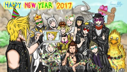 FFXV ( Happy New Years 2017 ) by EmmaNettip