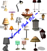 [MMD] Lamps and Light Fixtures DL Pack by OniMau619