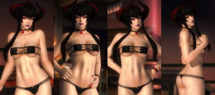 Eliza Leather Thong Black 001 (22 Pics) by DOA5lrScreenShots
