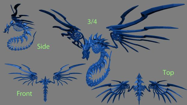3D - Spine Dragon by shanku