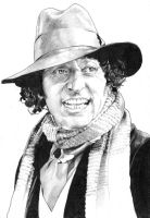 Tom Baker Pencil by jlfletch