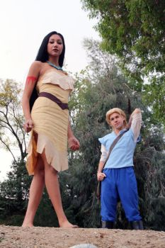 Pocahontas and John Smith Cosplay Scene by Chingrish
