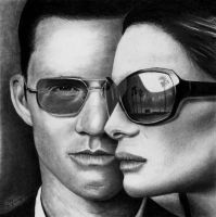 Burn Notice - Westen and Fiona by Doctor-Pencil