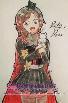Ruby's Kittens by JinxedRoseThorn