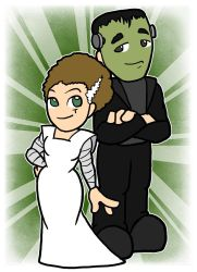 Ginger Buckingham and William - Frankenstein by shineyorkboy