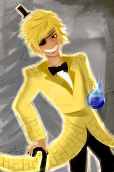Bill Cipher Human Form by TheTeenWitch
