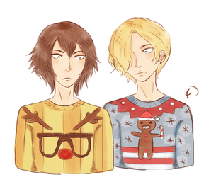 Ugly Christmas Sweater Oc Couple By Hieiwifeforever On Deviantart