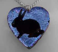 Lavender N Pink Bunny Pendant by HoneyCatJewelry