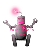 Happy Valentine's Day - Love Bot by SybilThorn