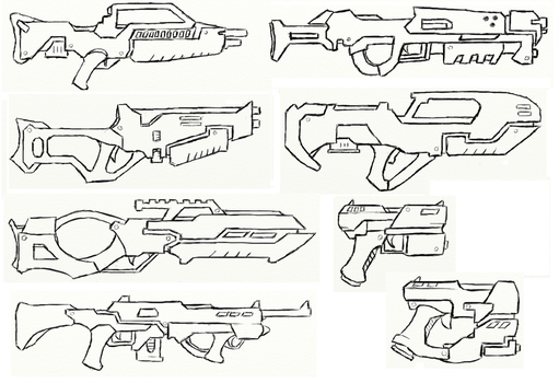 Gun Concepts I by JxAir