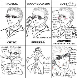 Style meme: Wesker by Silent-Neutral