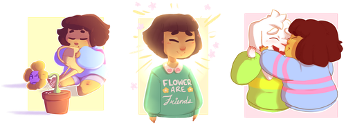 Frisk and Friends. by kyoukorpse