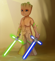 Jedi Groot Crossover by Chyche