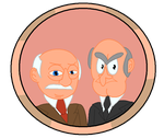 Muppet Button #12: Statler and Waldorf by IDontLikeCoffee22