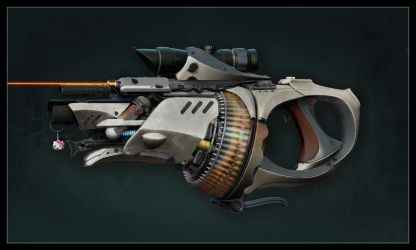 Gun with Nade Launcher by Pynion