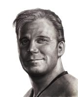 Captain Kirk smiling. by RodgerHodger