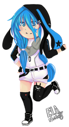 Blue fire chibi by chiorit