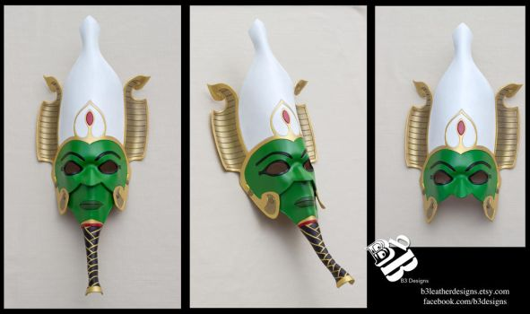 Egyptian God of the Afterlife, Osiris Leather Mask by b3designsllc