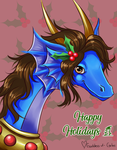 Dragonessblue - Holiday Picture by Goddess-of-Gales