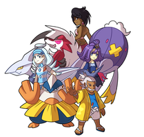 Alola Elite 4 by monomite