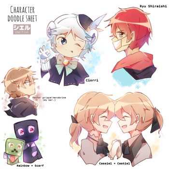 [ OC ] character doodles   1 by CKaitlyn