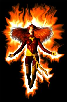 Dark Phoenix by graphicpoetry