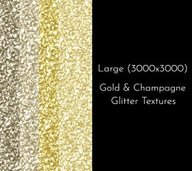 Gold and Champagne Glitter Texture Pack by oabookcovers