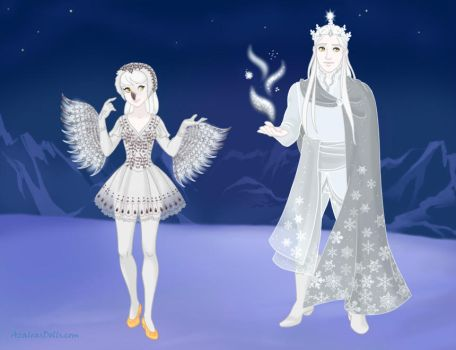 Snowy Owl and Wizard of Winter by Arimus79