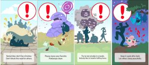 Pokemon Go warnings