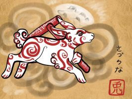Okami - Year of the Rabbit by secretsheik