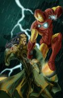 Iron Man Vs. The Mandarin by KileyBeecher