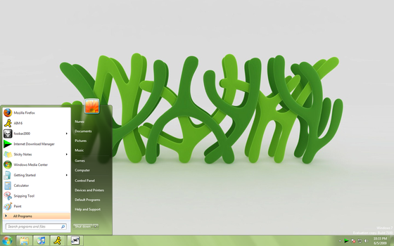 Clean Green Windows 7 Theme by J-MGraphics650