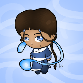 Katara of the Southern Water Tribe by FawkesPhoenix