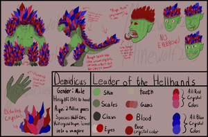 Demidicus Reference Sheet by Minewolf2105